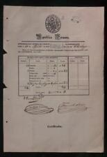 PERU official postal stampless document at Lima 1853 ship to Chiclayo by VAPOR