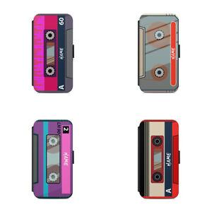 Luxury Personalised name Retro cassette tape L107 Flip Wallet phone case