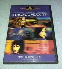 Personal Velocity (DVD, 2003) Kyra Sedgwick, Parker Posey RARE oop