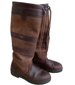 Dubarry Galway Boots UK 4 EUR 37 Walnut Brown Leather Waterproof Gor-tex Casual