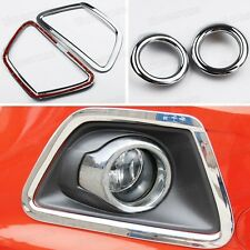 New! 4 x Chrome Front Fog Lamp Light Cover Trim Molding for Ford Ecosport 13-14