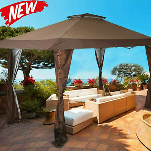 13'x13' UV Block Sun Shade Gazebo Canopy with Hardware Kits for Patio Outdoor