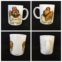 Rooster Chicken Coffee Mug by Artmark  Left or Right Handed