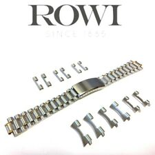 18mm 20mm 22mm ROWI 304195 STAINLESS STEEL BI-COLOR WATCH BRACELET LINK BAND