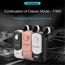 FineBlue F960 Auricular Inalámbrico Bluetooth 4.0 negocio Auricular Vibrador Con Clip en
