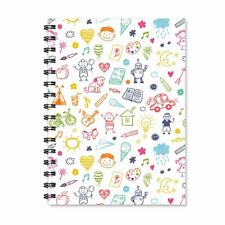 Cartoon Wirebound Spiral Ruled Notepad Multicolor Journal Diary Stationary Gift