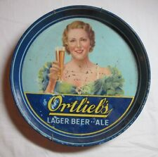 1930's Ortlieb'S Lager Beer Ale Tray Pennsylvania
