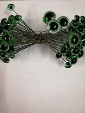 BULK BUY 50 x PAIRS  13/14mm GREEN GLASS TEDDY EYES ON WIRES