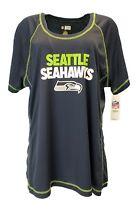 NFL Seattle Seahawks Women's Scoop Neck Tee, Blue, Plus SizeS 1x 2x 3x, nwt