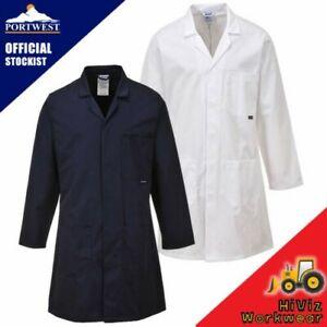 Portwest Laboratory Lab Engineers Overall Work Coat Trade Warehouse Overcoat