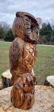 2 foot Cedar Chainsaw Carving Owl. Cedar Chainsaw Carved owl, owl carvings.