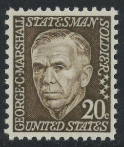 Scott 1289- George C. Marshall, Prominent Americans Series- MNH 20c 1967- mint