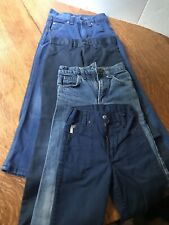 Vintage Kids Lot Of 1970s Jeans Pants Boys 7 8 Blue Roebuck Sears
