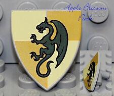 NEW Lego Kingdoms Green DRAGON SHEILD Triangle Castle Knight Minifig Weapon Gear