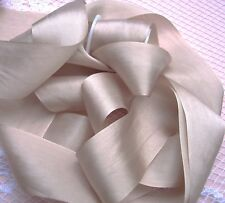 "100% PURE SILK  RIBBON [36MM] 1 1/2"" WIDE ~ BLUSH/BISQUE ~COLOR ~ 5 YRDS"