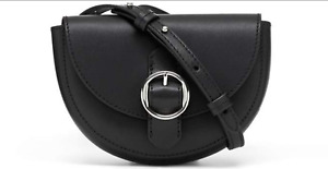 Banana Republic Leather Convertible Belt Bag Versatile Mini Leather Bag Black