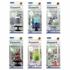PME Large Geometric Sugarcraft Cake Icing Decorating Multi Cutters - 6 Designs
