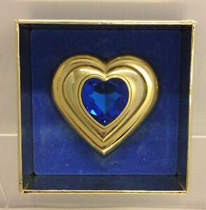 Rare Yves Saint Laurent Sapphire Jewel Compact Heart Shaped
