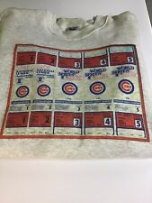 CHICAGO CUBS 1984 WORLD SERIES TICKETS SWEATSHIRT SZ XXL GREAT ITEM AWESOME