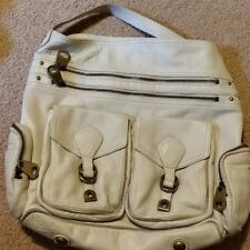 Authentic Marc By Marc Jacobs Leather Faridah Bag Pockets Ivory Cream Vanilla