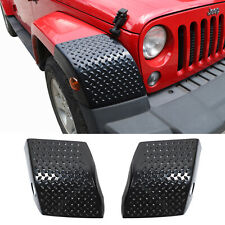Front Wheel Eyebrow Lamp Cover Trim Armor For Jeep Wrangler JK 2007-2017 Black