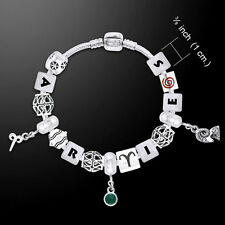 Aries Astrology Bead .925 Sterling Silver Bracelet Peter Stone