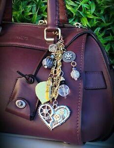 Custom Bling bag CHARM purse Keychain GIFT crystal sparkle bead MK, COACH,D&B