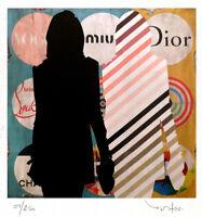 TABLEAU ART CONTEMPORAIN Fashion ad.. Reproduction TEHOS serie limitee 250 ex