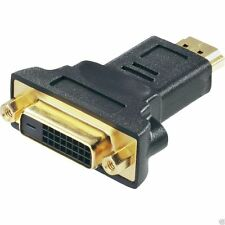 HDMI Stecker auf DVI Buchse Adapter - FULL HD - 1080p | Beamer PS3 TV LED PS4