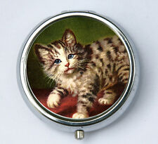 Cat PILL CASE pillbox pill holder kitsch cute kitten