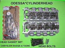 2 JEEP CHRYSLER DODGE 4.7 SOHC CYLINDER HEADS 99-07 GASKETS & BOLTS REBUILT
