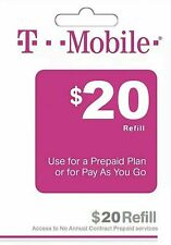 T - MOBILE Prepaid $20 Refill Top-Up / DIRECT RECHARGE