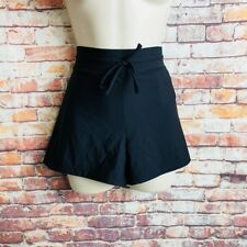 Reebok Womens Size Large Black Athletic Fitness Running Shorts String Tie