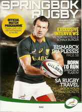 SOUTH AFRICA v WORLD XV 7 Jun 2014 at Newlands, Cape Town RUGBY PROGRAMME