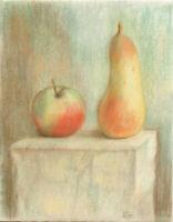 """""""Apfel und Birne"""",  Originalpastell"""