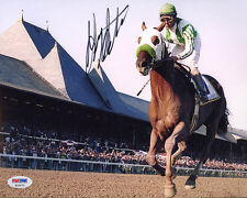 Gary Stevens SIGNED 8x10 Photo Kentucky Derby Seabiscuit PSA/DNA AUTOGRAPHED