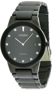 CitizenEco-Drive Axiom Black Dial Men's Watch - AU1065-58G
