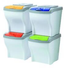 Pattumiera raccolta differenziata POKER BAMA 4pz secchio spazzatura bidone casa
