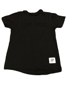 Boys Black Harry Potter Tshirt Age 6-7 From Primark