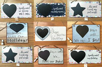 Chalkboard Countdown Wedding Weight Loss Baby Holiday Hanging Signs Plaques Gift