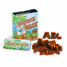 Wooden pretend role play food (Erzi) play kitchen, shop: ABC cookies in a tin
