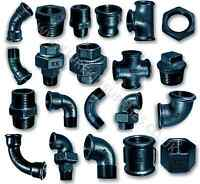 """BLACK MALLEABLE IRON PIPE FITTINGS BSP 1/8"""" - 4"""" PNEUMATIC 1/4"""" 1/2"""" 3/4"""" 1"""" 2"""""""