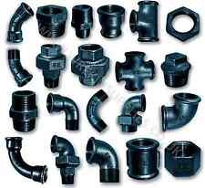 "BLACK MALLEABLE IRON PIPE FITTINGS BSP 1/8"" - 4"" PNEUMATIC 1/4"" 1/2"" 3/4"" 1"" 2"""