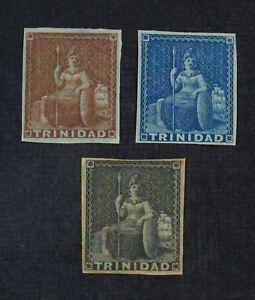 CKStamps: GB Trinidad Stamps Collection Scott#2 3 Mint H OG #4 NG