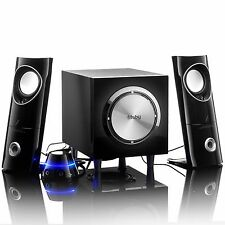Frisby Amplified 2.1 Ch Desktop Speaker Subwoofer System w/ Convenient Controls
