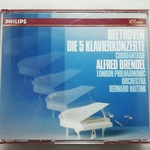 Beethoven: The 5 Piano Concertos / Alfred Brendel / Philips 3 CD box 422 937-2
