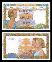 France 500 Francs 1941  * La Paix * / Fayette  P # 95b  Serie A  XF  Large Size