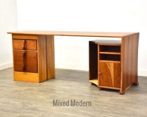 Solid Cherry & Oak Modern Modular Desk