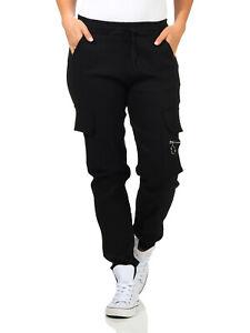 Jeans Damenhose Cargohose Stretch Denim Jogger Pants Sommer Treggings GR 36-42