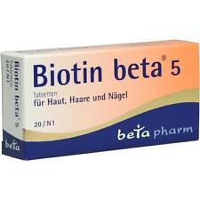 BIOTIN BETA 5 20St Tabletten PZN:1841919